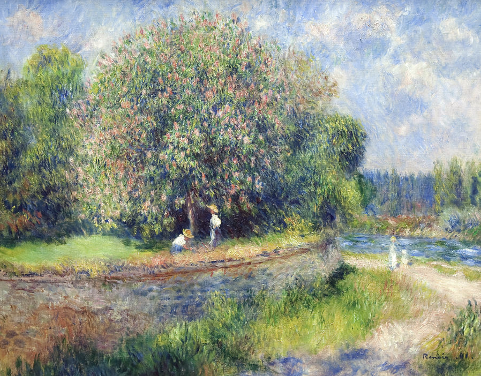 Horse Chestnut Tree In Flower by Renoir
